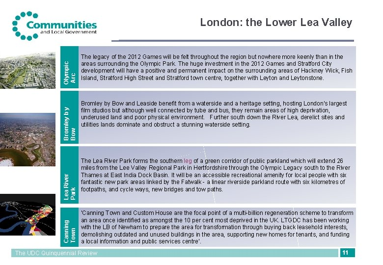 Canning Town Lea River Park Bromley b y Bow Olympic Arc London: the Lower
