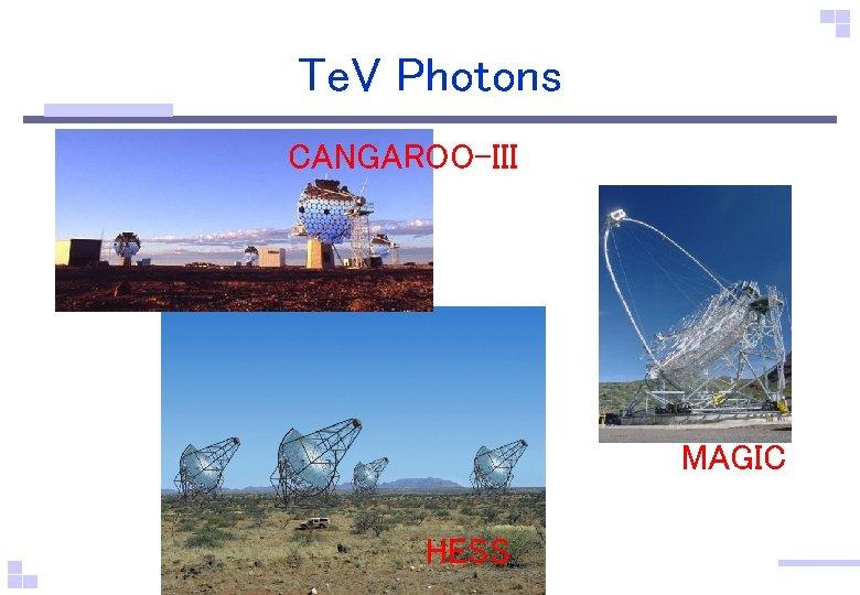 Te. V Photons CANGAROO-III MAGIC HESS