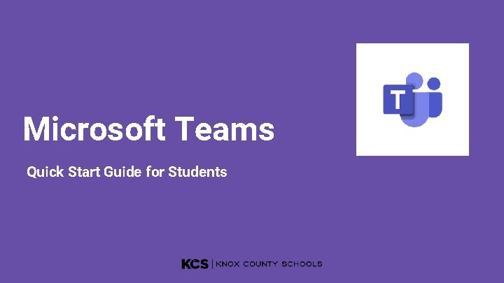 Microsoft Teams Quick Start Guide for Students