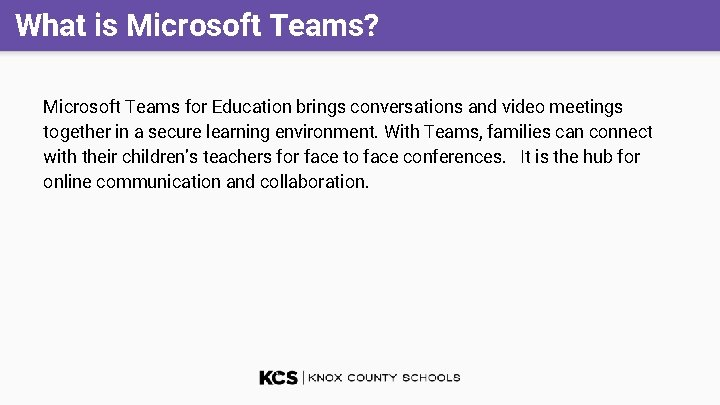 What is Microsoft Teams? Microsoft Teams for Education brings conversations and video meetings together