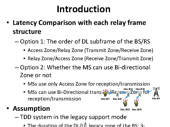 Introduction • Latency Comparison with each relay frame structure – Option 1: The order