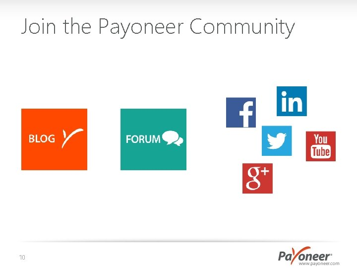 Join the Payoneer Community 10