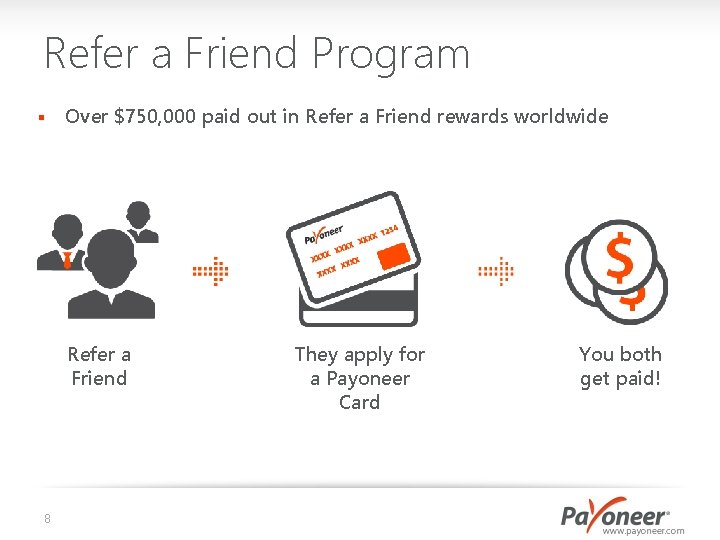 Refer a Friend Program § Over $750, 000 paid out in Refer a Friend
