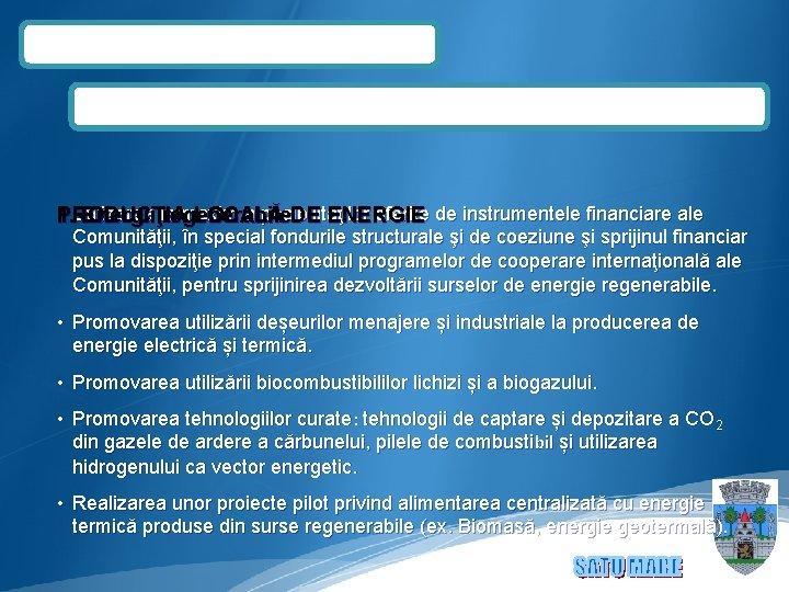 • 1. Utilizarea la maxim a posibilităţilor oferite de instrumentele financiare ale PRODUCŢIA