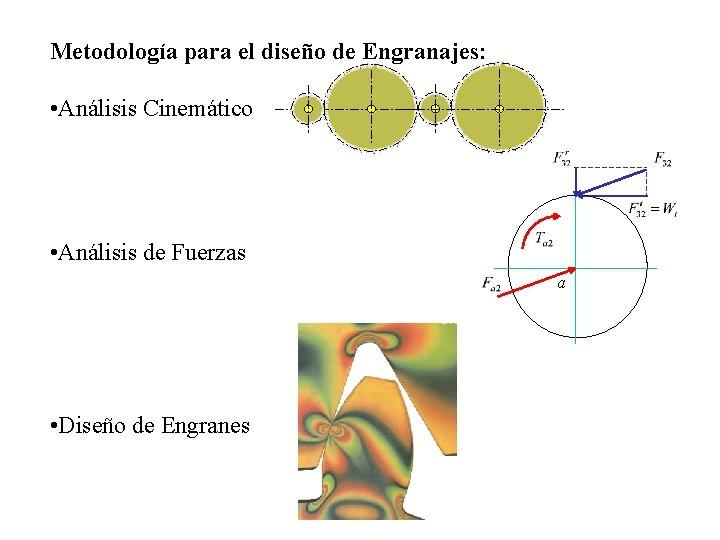 Metodología para el diseño de Engranajes: • Análisis Cinemático • Análisis de Fuerzas a