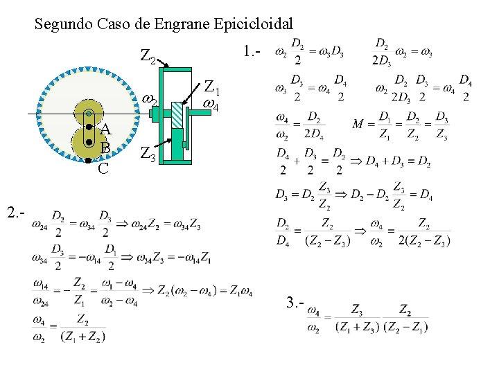 Segundo Caso de Engrane Epicicloidal 1. - Z 2 w 2 A B C