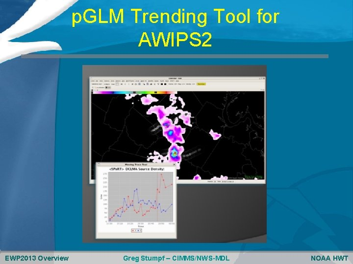 p. GLM Trending Tool for AWIPS 2 EWP 2013 Overview Greg Stumpf – CIMMS/NWS-MDL