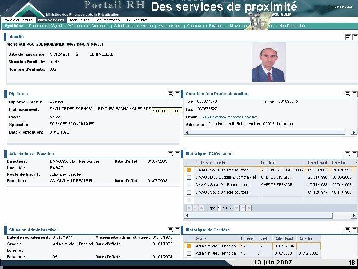 services de proximité Des services de proximité 13 juin 2007 18