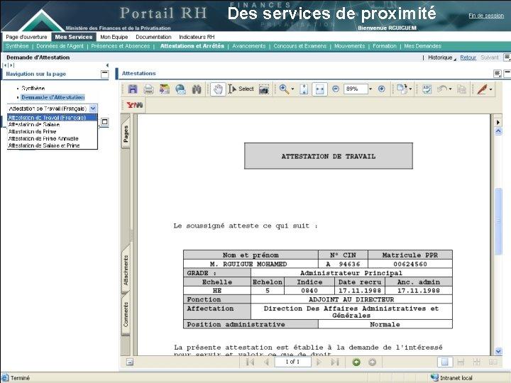 Des services de proximité 13 juin 2007 20