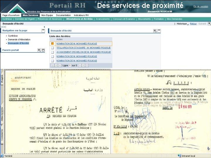 Des services de proximité 13 juin 2007 21