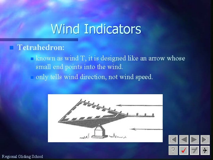 Wind Indicators n Tetrahedron: known as wind T, it is designed like an arrow