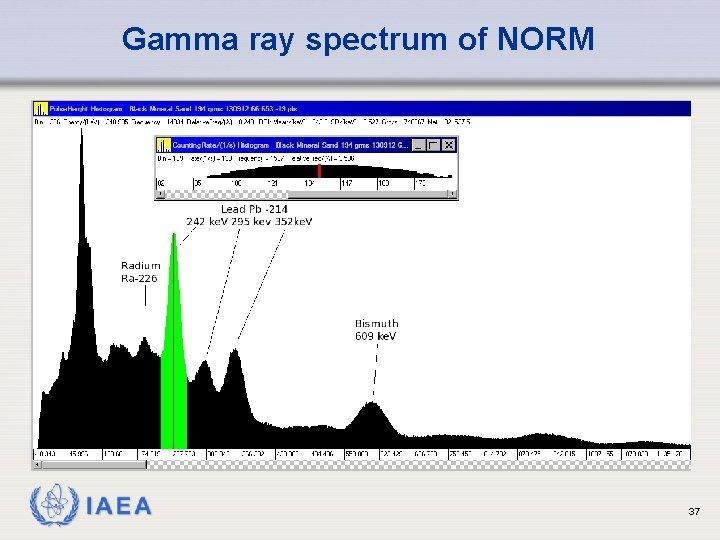 Gamma ray spectrum of NORM IAEA 37