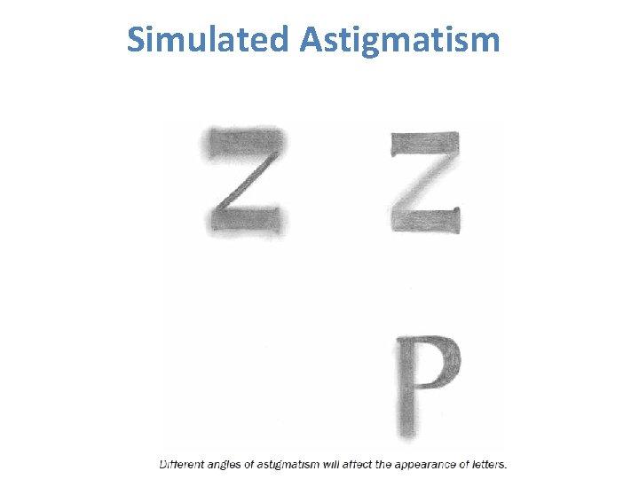 Simulated Astigmatism