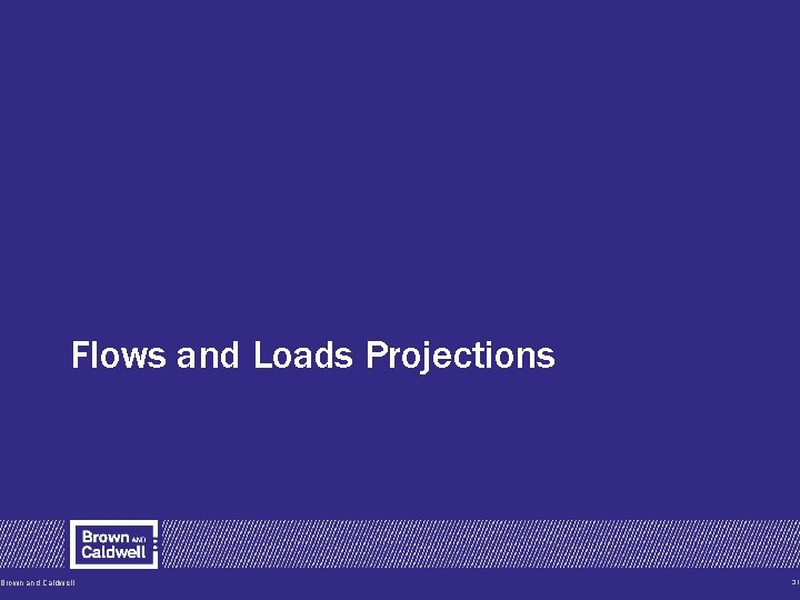 Flows and Loads Projections Brown and Caldwell 31