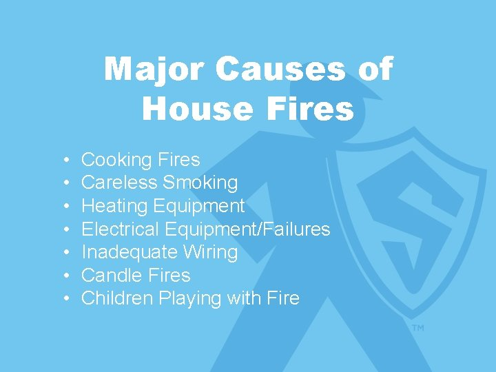 Subtitle is Arial Major Causes of • Subtitle is Arial House Fires • •