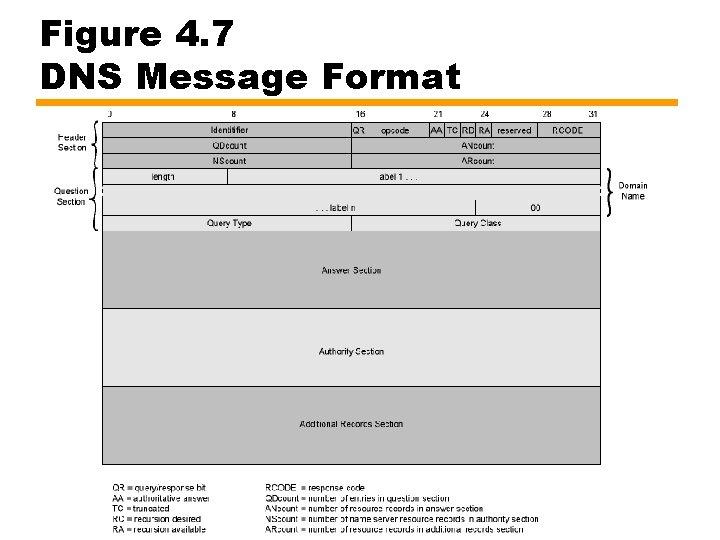 Figure 4. 7 DNS Message Format