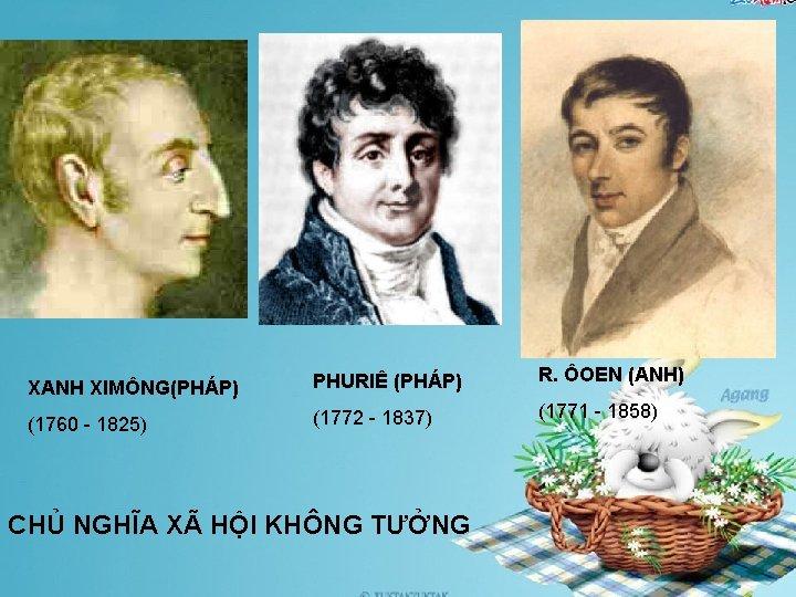 XANH XIMÔNG(PHÁP) PHURIÊ (PHÁP) R. ÔOEN (ANH) (1760 - 1825) (1772 - 1837) (1771