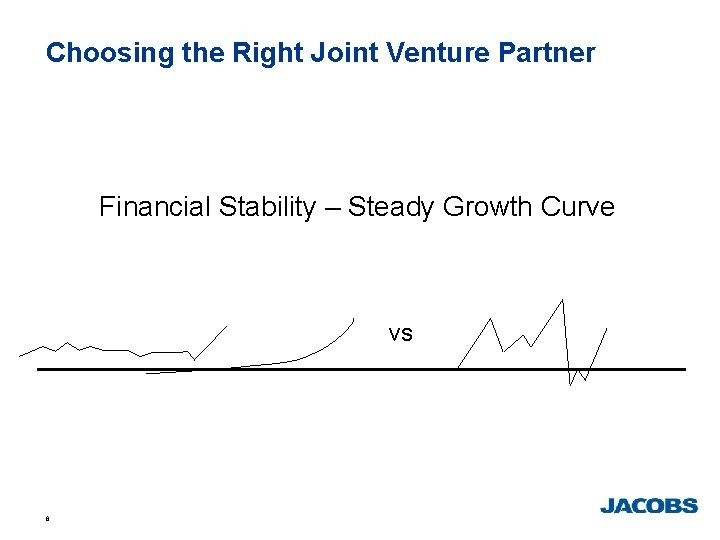 Choosing the Right Joint Venture Partner Financial Stability – Steady Growth Curve vs 8