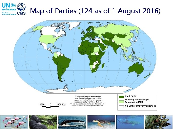 Map of Parties (124 as of 1 August 2016)