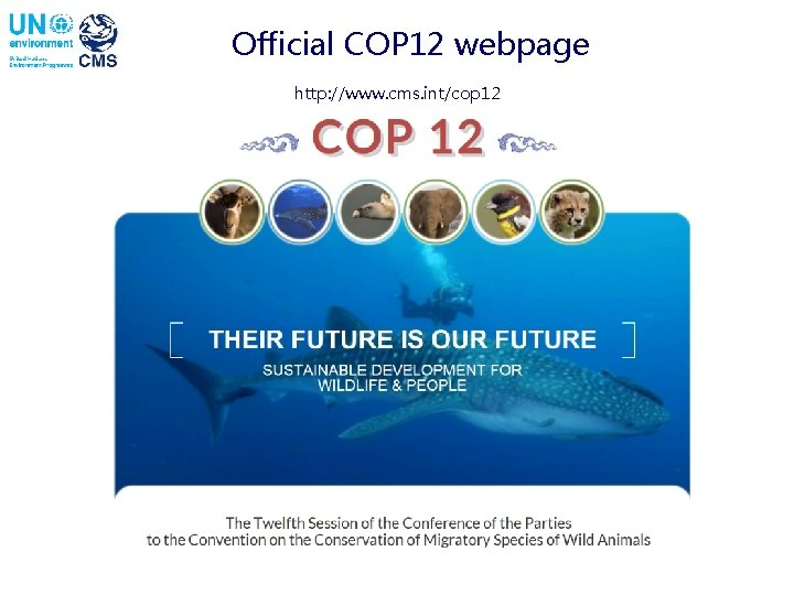 Official COP 12 webpage http: //www. cms. int/cop 12
