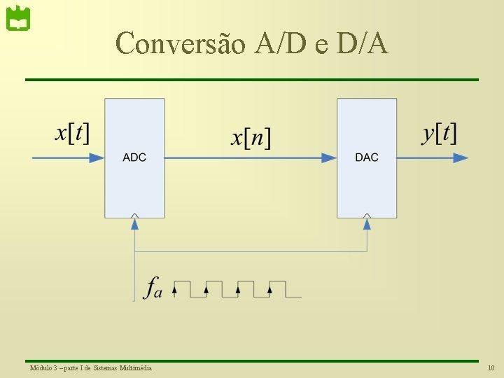 Conversão A/D e D/A Módulo 3 – parte I de Sistemas Multimédia 10