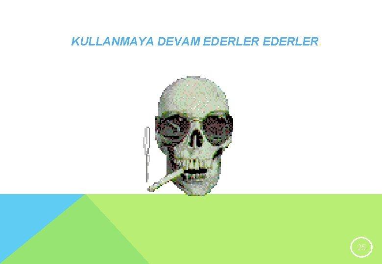 KULLANMAYA DEVAM EDERLER. 25
