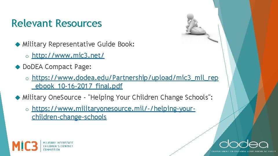 Relevant Resources Military Representative Guide Book: o Do. DEA Compact Page: o http: //www.