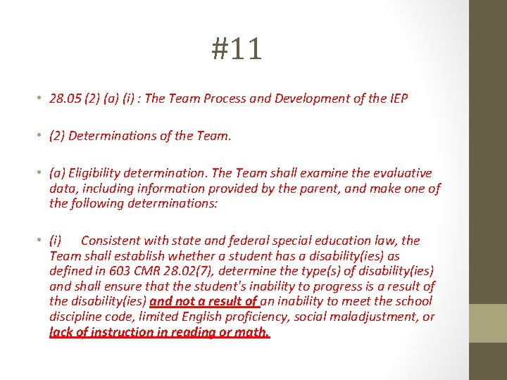 #11 • 28. 05 (2) (a) (i) : The Team Process and Development of