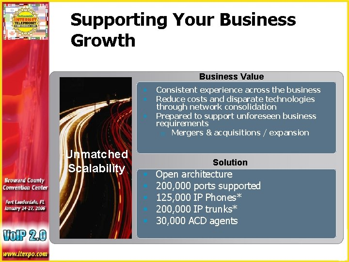 Supporting Your Business Growth Business Value § § § Consistent experience across the business
