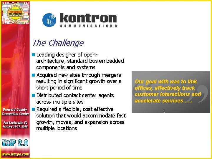 """The Challenge """" """" n Leading designer of openarchitecture, standard bus embedded components and"""