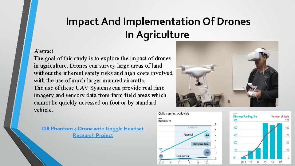 Impact And Implementation Of Drones In Agriculture Abstract The goal of this study is