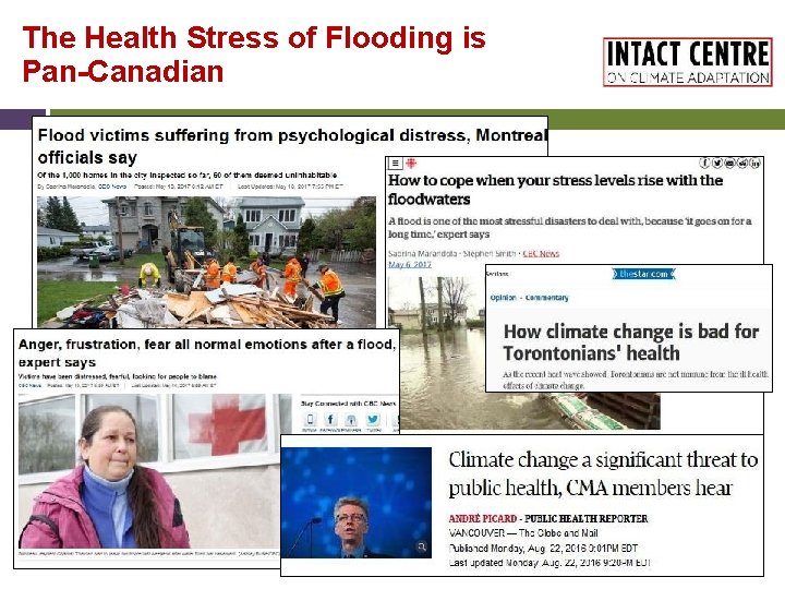 The Health Stress of Flooding is Pan-Canadian 10