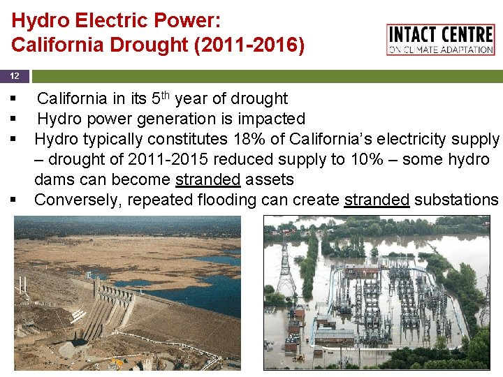 Hydro Electric Power: California Drought (2011 -2016) 12 § § California in its 5