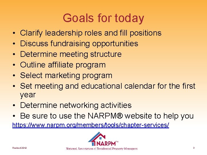 Goals for today • • • Clarify leadership roles and fill positions Discuss fundraising