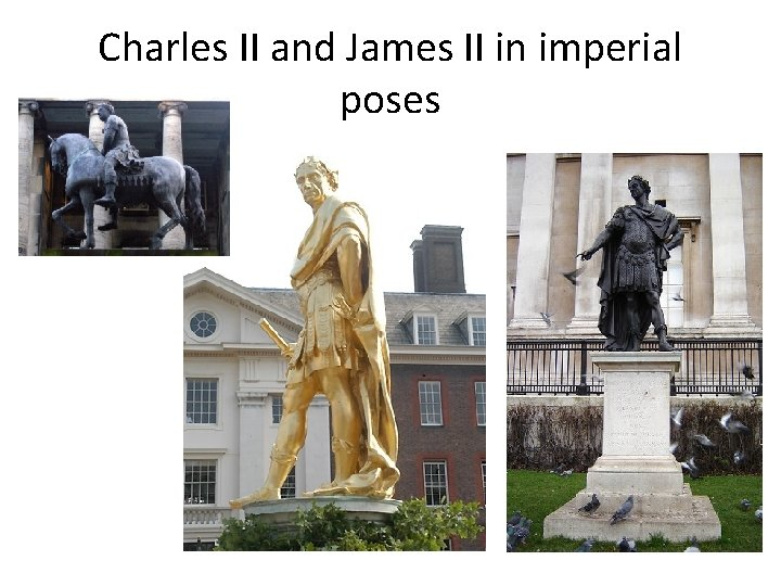 Charles II and James II in imperial poses