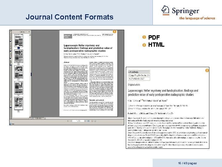 Journal Content Formats PDF HTML 16 / 49 pages