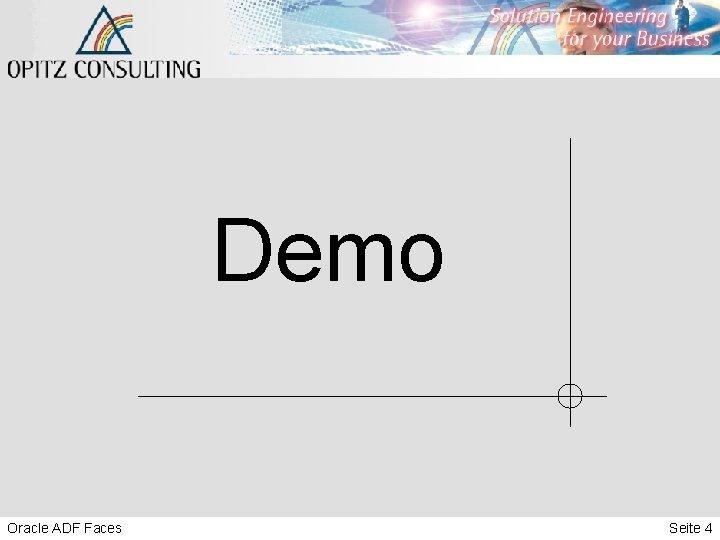 Demo Oracle ADF Faces Seite 4