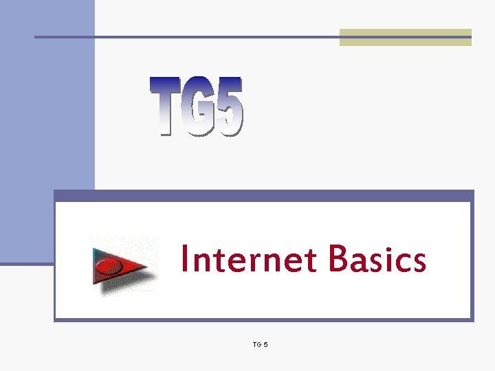 Internet Basics TG 5
