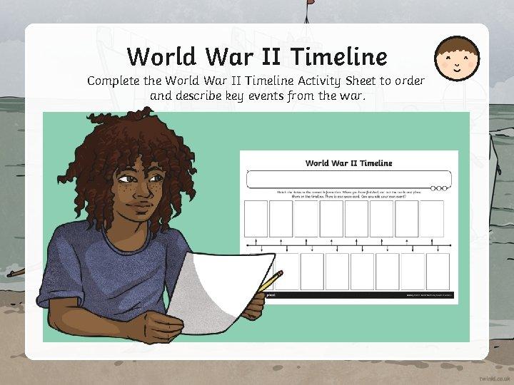 World War II Timeline Complete the World War II Timeline Activity Sheet to order