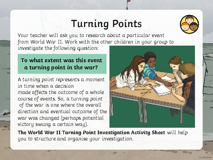 Turning Points Your teacher will ask you to research about a particular event from