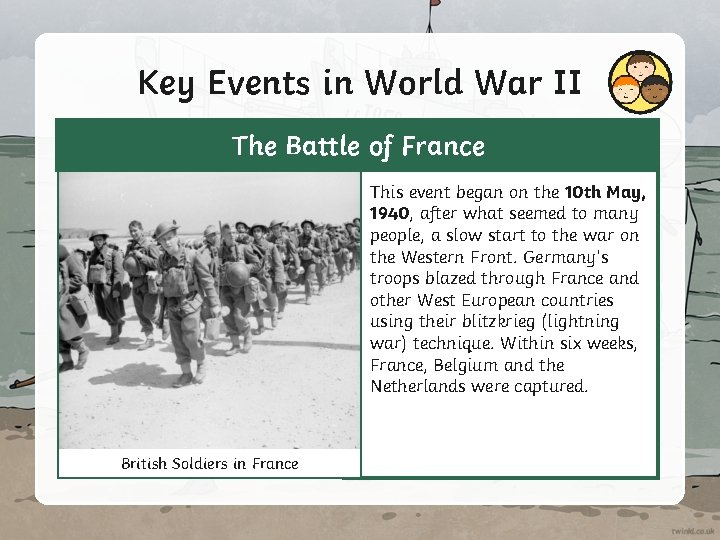 Key Events in World War II The Battle of France This event began on