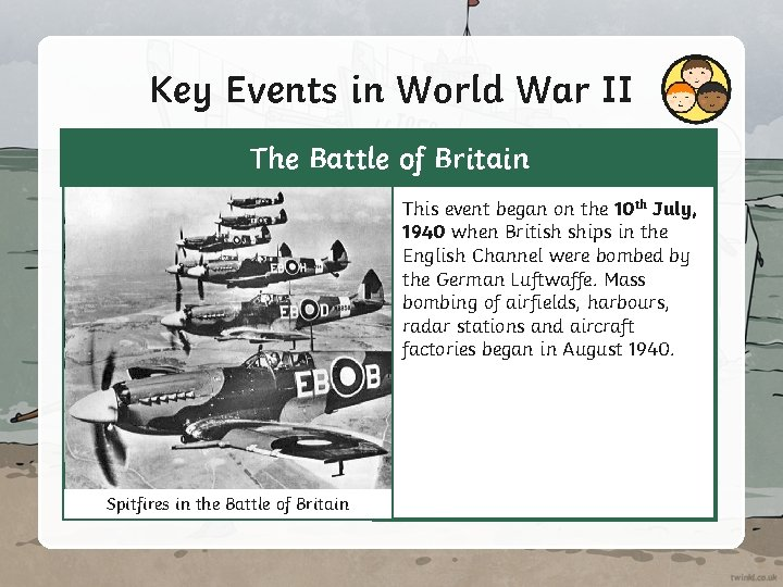 Key Events in World War II The Battle of Britain This event began on