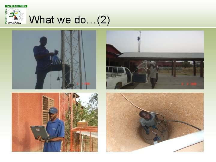 What we do…(2)