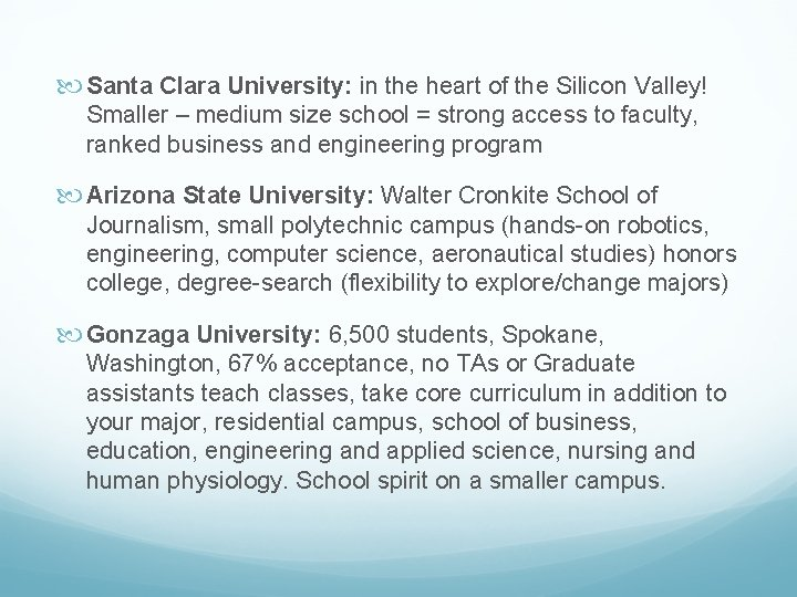 Santa Clara University: in the heart of the Silicon Valley! Smaller – medium