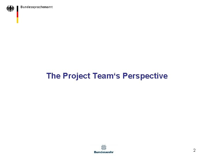 The Project Team's Perspective 2