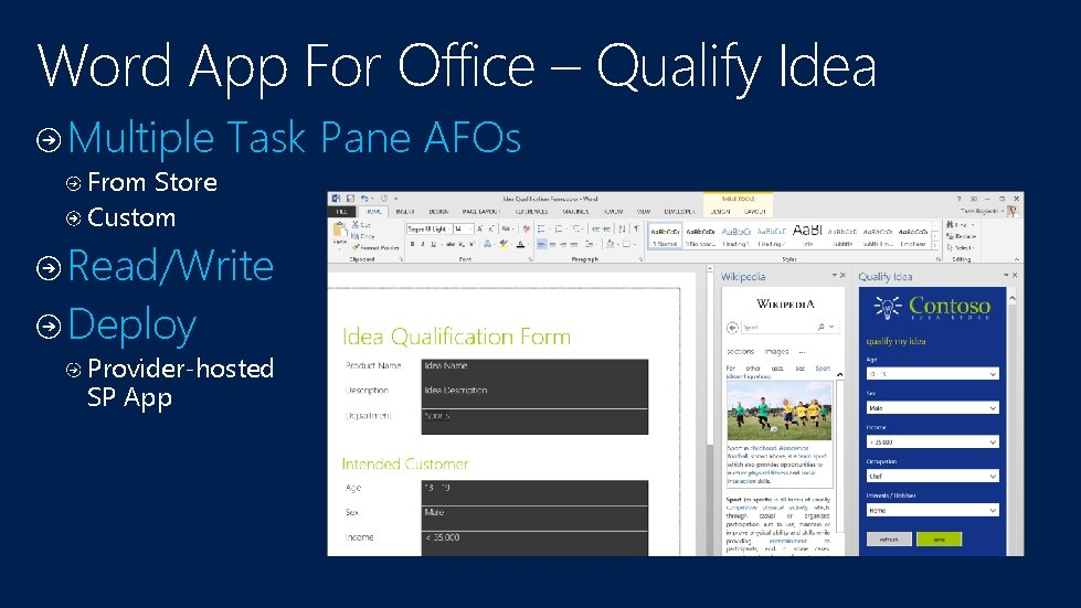 Word App For Office – Qualify Idea Multiple Task Pane AFOs From Store Custom
