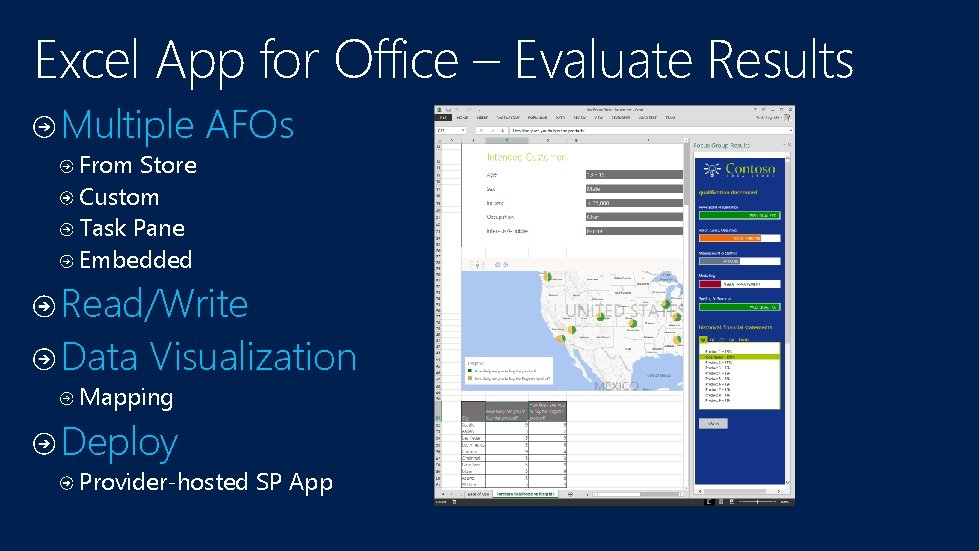 Excel App for Office – Evaluate Results Multiple AFOs From Store Custom Task Pane