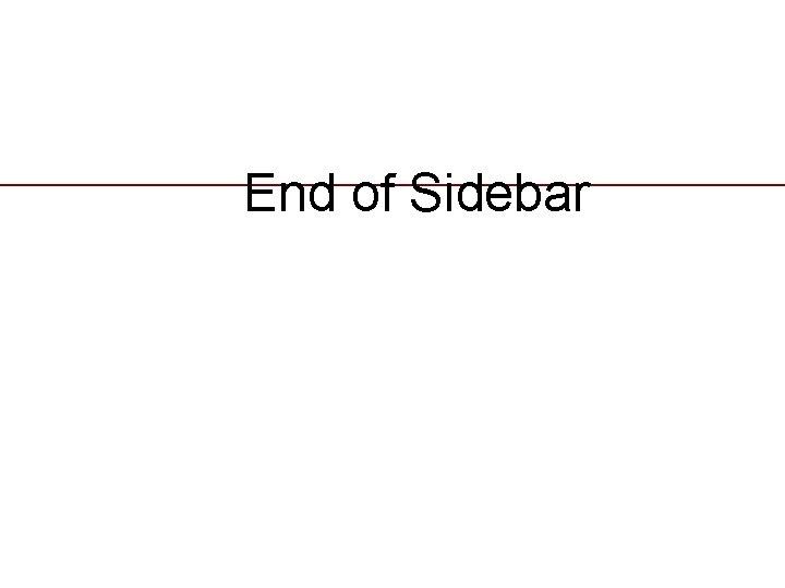 End of Sidebar 21