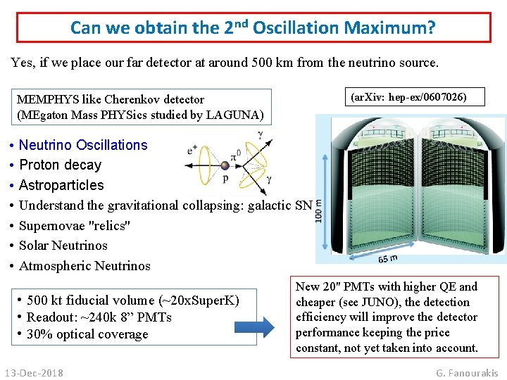 Can we obtain the 2 nd Oscillation Maximum? Yes, if we place our far