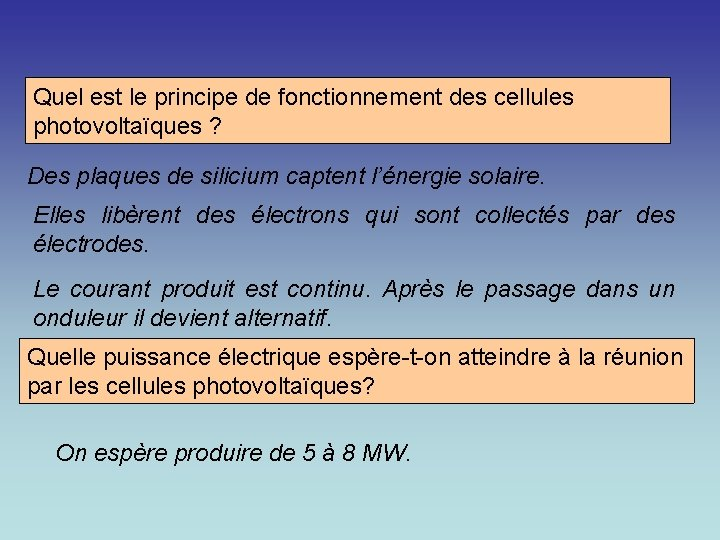 Quel est le principe de fonctionnement des cellules photovoltaïques ? Des plaques de silicium